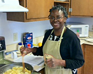 Georgia Jones, Extension Food Specialist cooking
